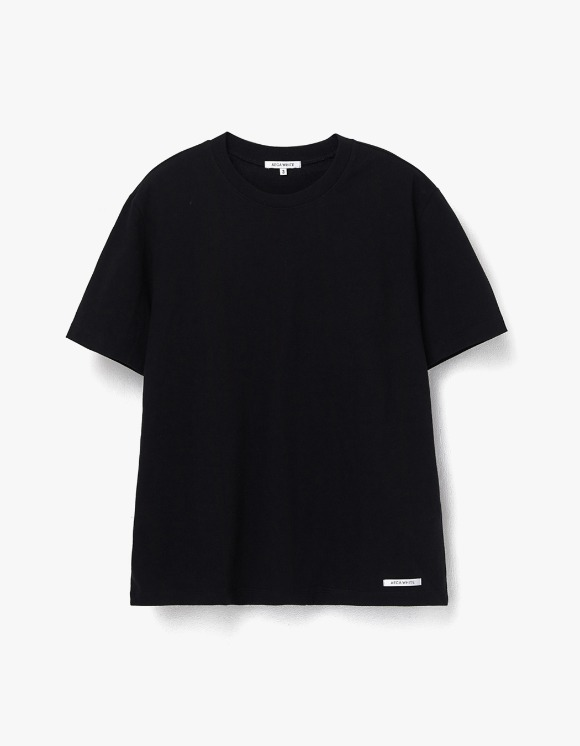 AECA WHITE Finest Cotton Half Sleeve Tee - Black | HEIGHTS. | 하이츠 온라인 스토어