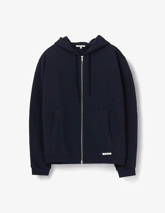 AECA WHITE Finest Cotton Zip Up Hoodie - Deep Navy | HEIGHTS. | 하이츠 온라인 스토어