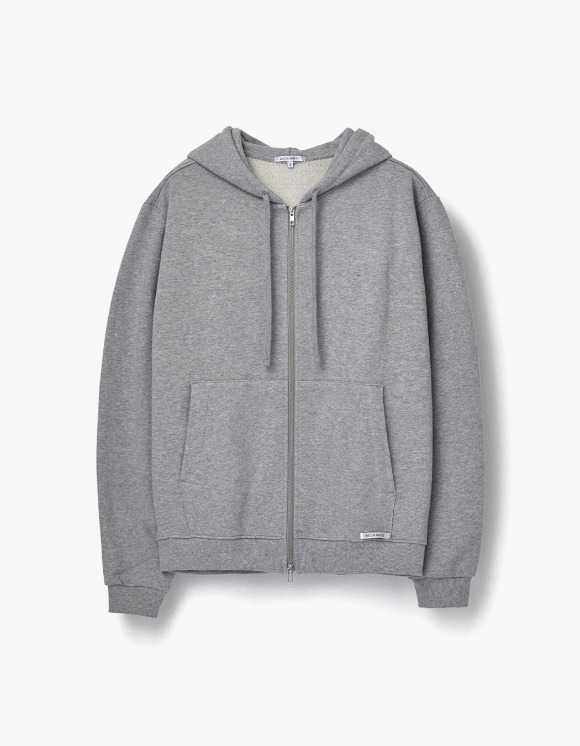 AECA WHITE Finest Cotton Zip Up Hoodie - Grey | HEIGHTS. | 하이츠 온라인 스토어