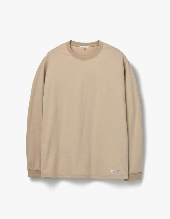 AECA WHITE Finest Cotton Long Sleeve Tee - Beige | HEIGHTS. | 하이츠 온라인 스토어