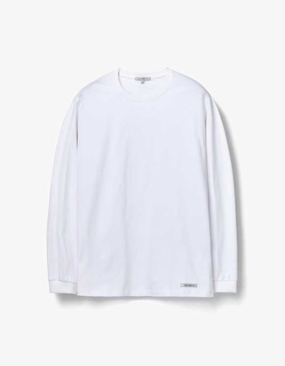 AECA WHITE Finest Cotton Long Sleeve Tee - White | HEIGHTS. | 하이츠 온라인 스토어