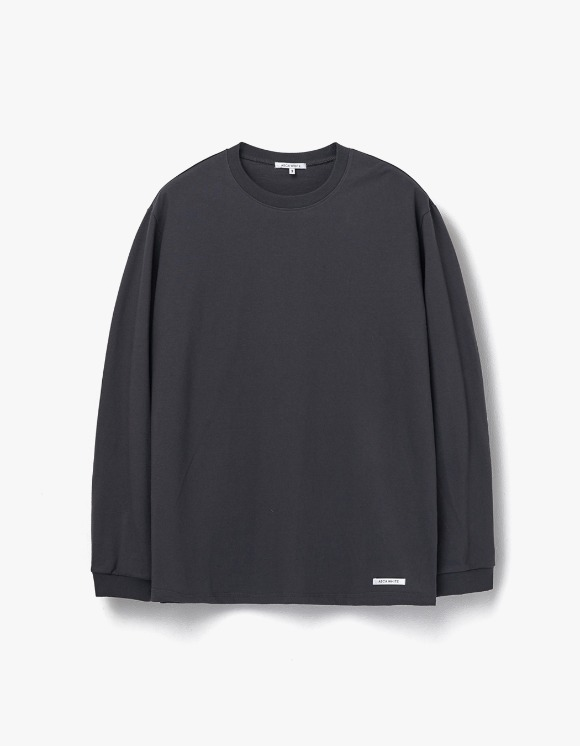 AECA WHITE Finest Cotton Long Sleeve Tee - Charcoal | HEIGHTS. | 하이츠 온라인 스토어