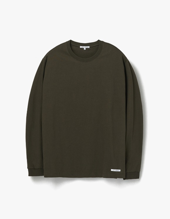 AECA WHITE Finest Cotton Long Sleeve Tee - Olive | HEIGHTS. | 하이츠 온라인 스토어