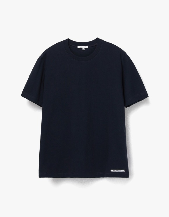 AECA WHITE Finest Cotton Half Sleeve Tee - Deep Navy | HEIGHTS. | 하이츠 온라인 스토어