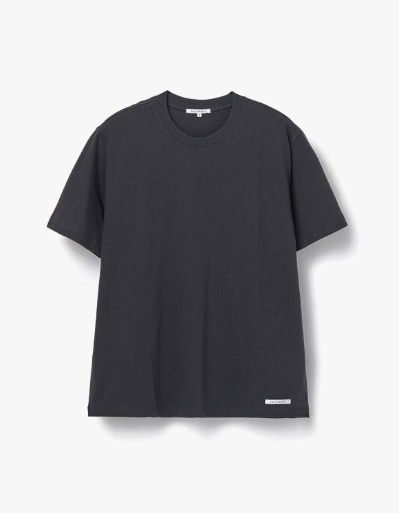 AECA WHITE Finest Cotton Half Sleeve Tee - Chacoal | HEIGHTS. | 하이츠 온라인 스토어