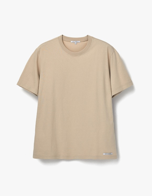 AECA WHITE Finest Cotton Half Sleeve Tee - Beige | HEIGHTS. | 하이츠 온라인 스토어