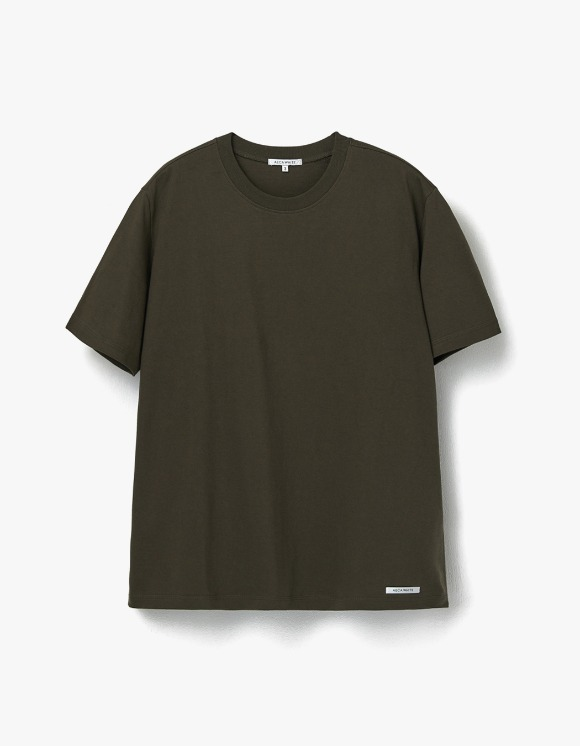 AECA WHITE Finest Cotton Half Sleeve Tee - Olive | HEIGHTS. | 하이츠 온라인 스토어