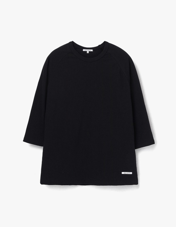 AECA WHITE Finest Cotton Raglan Tee - Black | HEIGHTS. | 하이츠 온라인 스토어