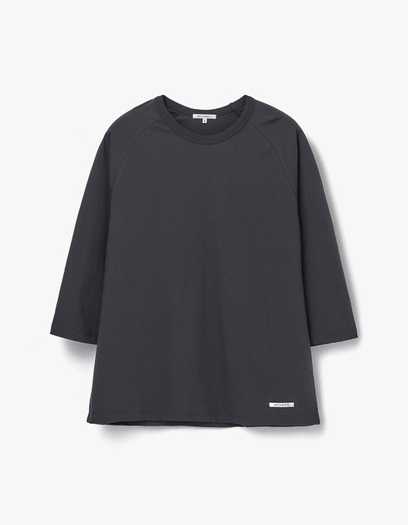 AECA WHITE Finest Cotton Raglan Tee - Charcoal | HEIGHTS. | 하이츠 온라인 스토어
