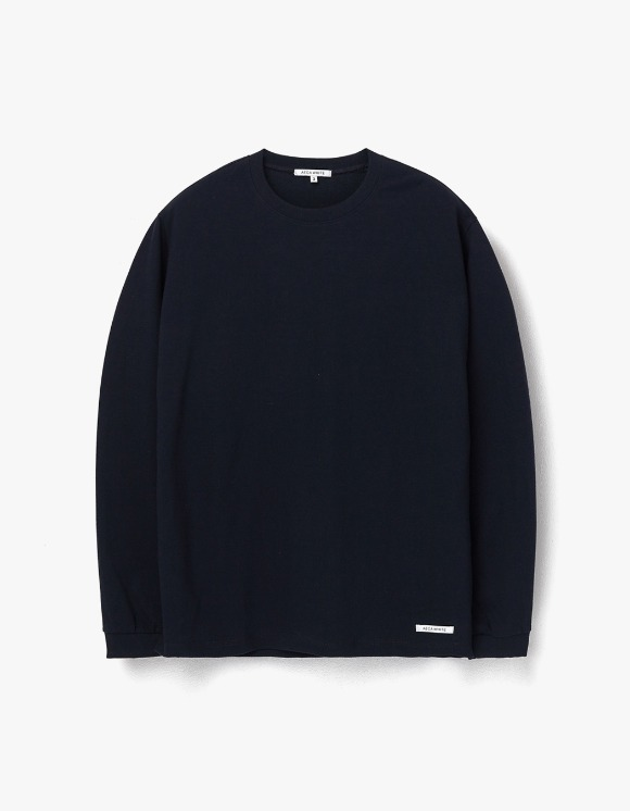 AECA WHITE Finest Cotton Long Sleeve Tee - Deep Navy | HEIGHTS. | 하이츠 온라인 스토어