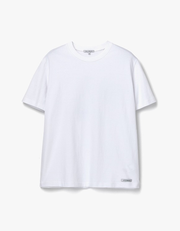AECA WHITE Finest Cotton Half Sleeve Tee - White | HEIGHTS. | 하이츠 온라인 스토어