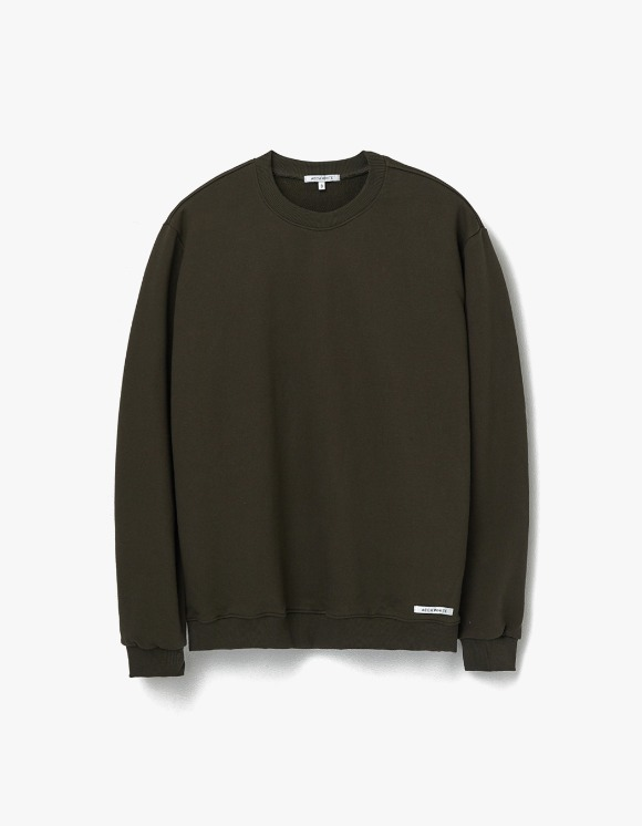 AECA WHITE Finest Cotton Sweatshirt - Olive | HEIGHTS. | 하이츠 온라인 스토어