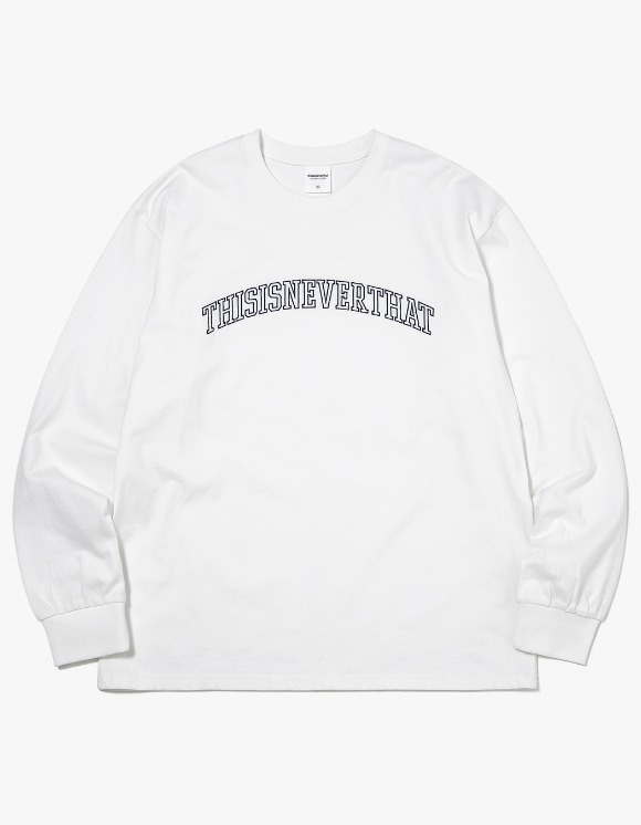 thisisneverthat ARC-Logo L/SL Top - White | HEIGHTS. | 하이츠 온라인 스토어