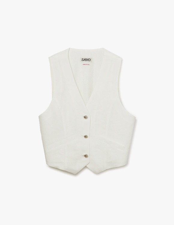 s/e/o CL Button Up Vest - White | HEIGHTS. | 하이츠 온라인 스토어