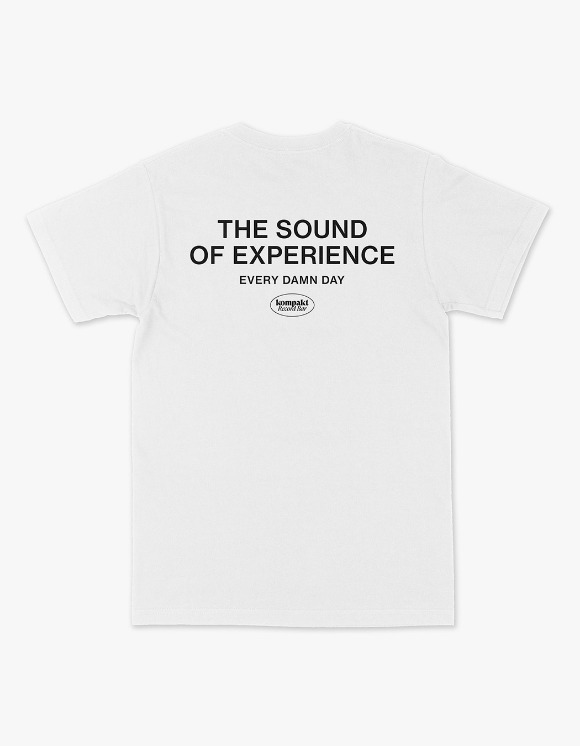 Kompakt Record Bar The Sounds Of Experience S/S Tee - White/Black | HEIGHTS. | 하이츠 온라인 스토어