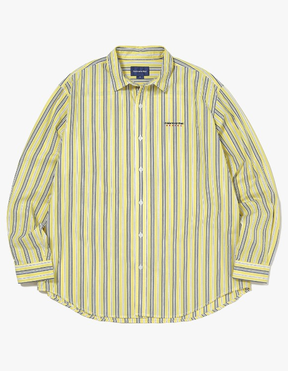 thisisneverthat DSN-Logo Striped Shirt - Yellow | HEIGHTS. | 하이츠 온라인 스토어