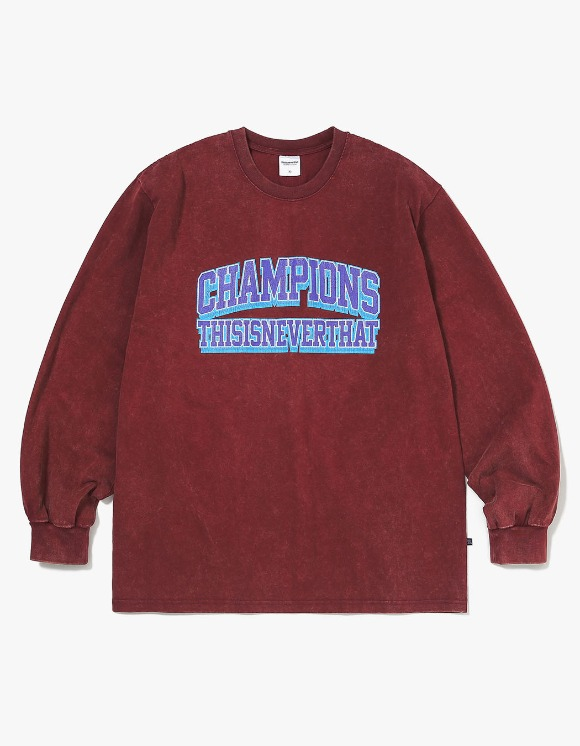 thisisneverthat Acid Washed L/SL Top - Burgundy | HEIGHTS. | 하이츠 온라인 스토어