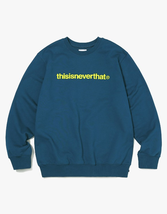 thisisneverthat T-Logo Crewneck - Dark Bluegreen | HEIGHTS. | 하이츠 온라인 스토어