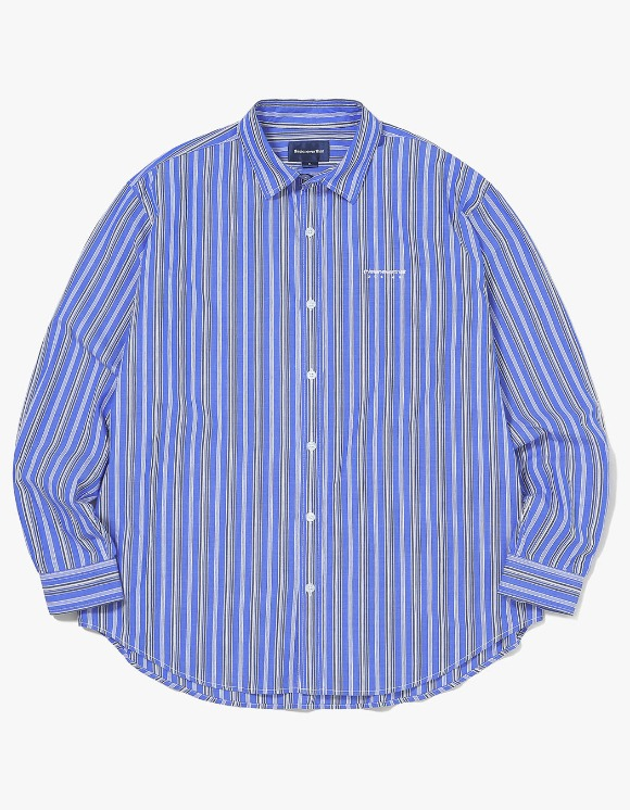 thisisneverthat DSN-Logo Striped Shirt - Blue | HEIGHTS. | 하이츠 온라인 스토어
