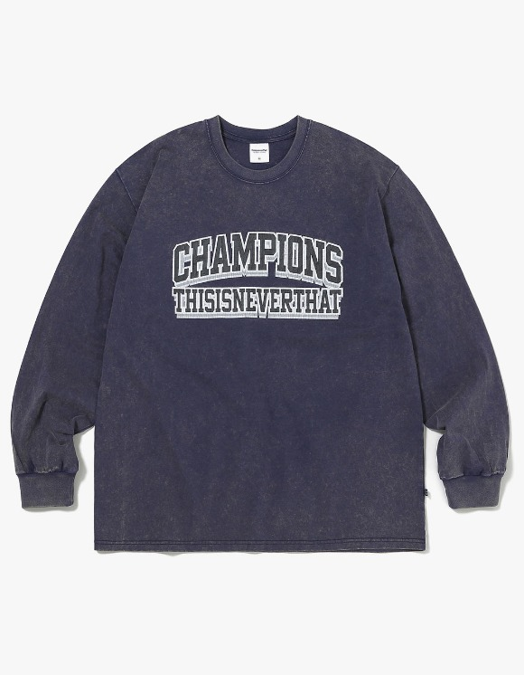 thisisneverthat Acid Washed L/SL Top - Dark Navy | HEIGHTS. | 하이츠 온라인 스토어
