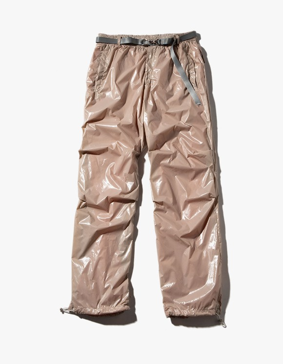 JOEGUSH Glossy Track Pants - Beige | HEIGHTS. | 하이츠 온라인 스토어