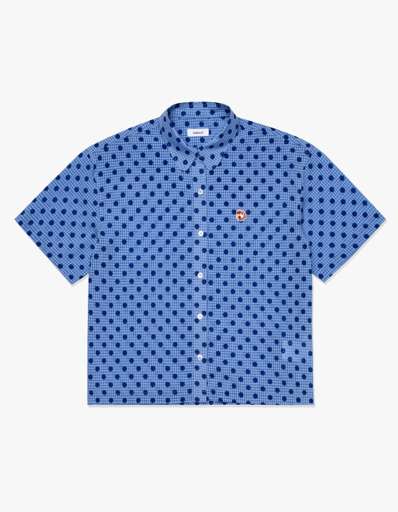 KANCO KANCO ROUND COLLAR SHORT SHIRT blue | HEIGHTS. | 하이츠 온라인 스토어