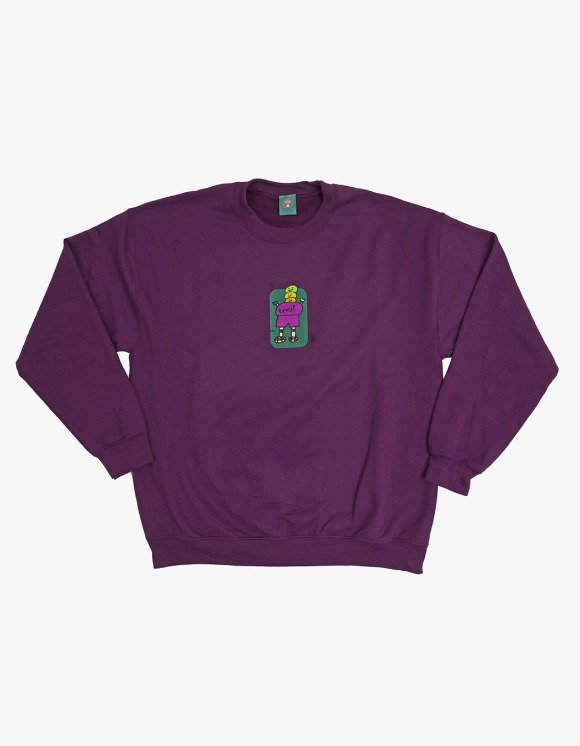 Frog Skateboard Jesse Napkin Crewneck - Purple | HEIGHTS. | 하이츠 온라인 스토어