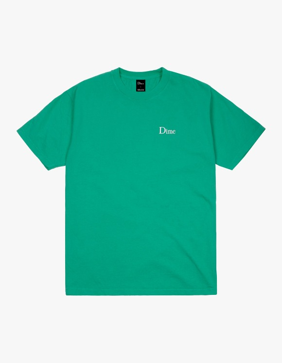 Dime Logo Embroidered T-Shirt - Emerald | HEIGHTS. | 하이츠 온라인 스토어