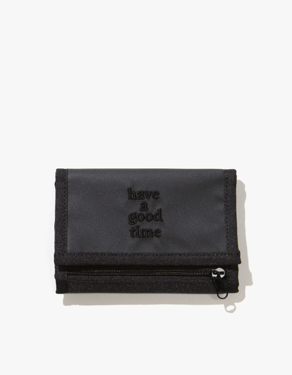 have a good time Logo Wallet - Charcoal | HEIGHTS. | 하이츠 온라인 스토어