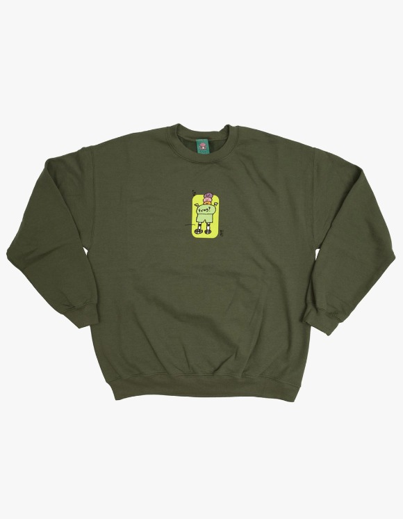 Frog Skateboard Jesse Napkin Crewneck - Green | HEIGHTS. | 하이츠 온라인 스토어