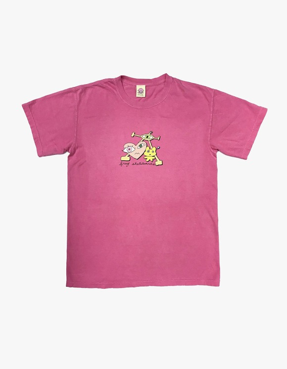 Frog Skateboard Frog is Wired Tee - Pink | HEIGHTS. | 하이츠 온라인 스토어