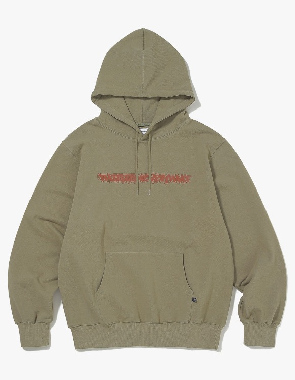 thisisneverthat FD-Logo Hooded Sweatshirt - Light Olive | HEIGHTS. | 하이츠 온라인 스토어