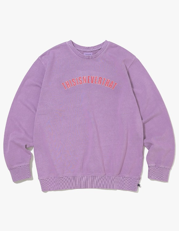 thisisneverthat NEW ARC Crewneck - Lavender | HEIGHTS. | 하이츠 온라인 스토어