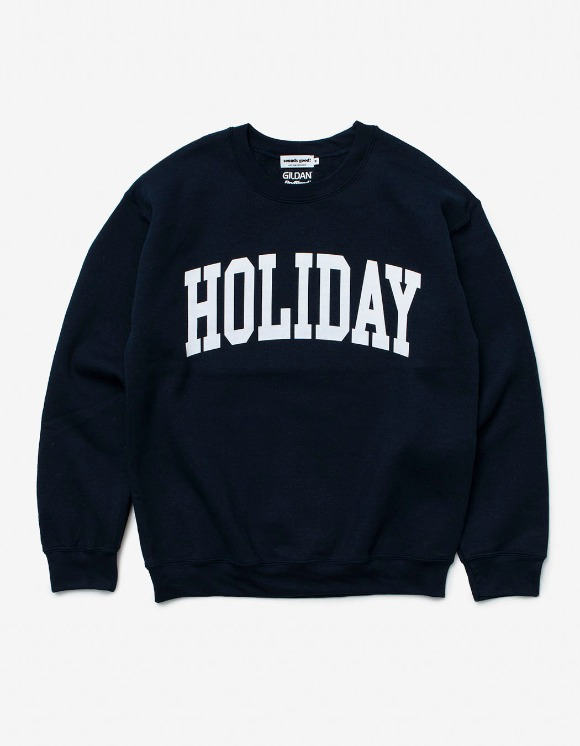 sounds good! Holiday Crewneck - Navy | HEIGHTS. | 하이츠 온라인 스토어