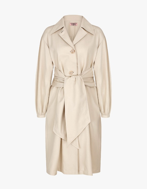 Margarin Fingers Bow Trench Coat - Light Beige | HEIGHTS. | 하이츠 온라인 스토어