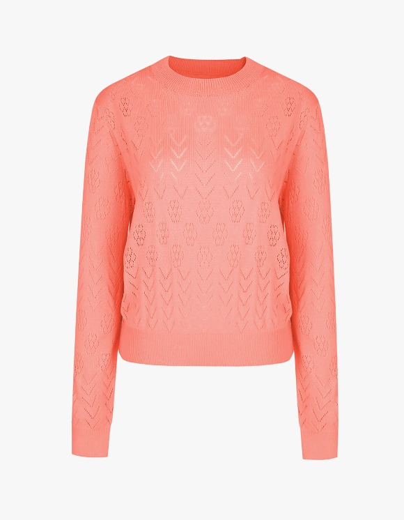 Margarin Fingers Punching Pullover Knit - Coral | HEIGHTS. | 하이츠 온라인 스토어