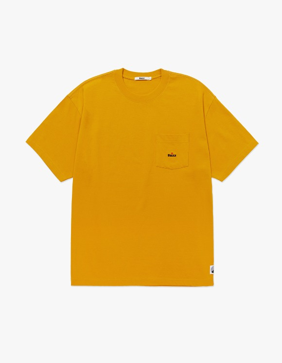 Fuzz FUZZ POCKET TEE mustard | HEIGHTS. | 하이츠 온라인 스토어