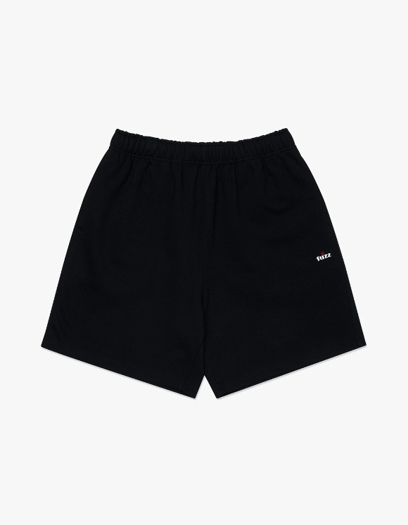 Fuzz FUZZ R LOGO SWEAT SHORTS black | HEIGHTS. | 하이츠 온라인 스토어