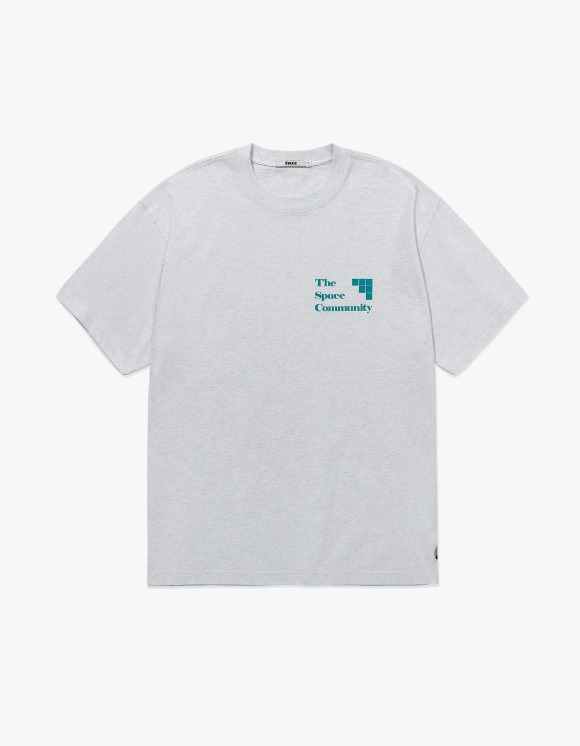 Fuzz FUZZ COMMUNITY TEE lt. heather gray | HEIGHTS. | 하이츠 온라인 스토어