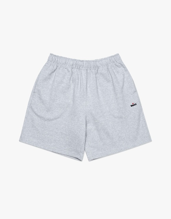 Fuzz FUZZ R LOGO SWEAT SHORTS heather gray | HEIGHTS. | 하이츠 온라인 스토어