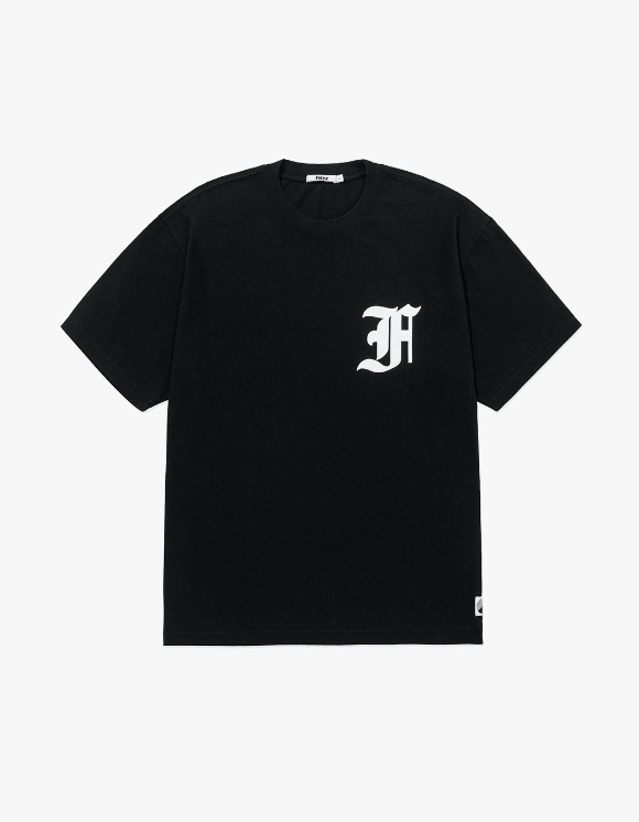 Fuzz FUZZ OVER DYED OLD ENGLISH TEE black | HEIGHTS. | 하이츠 온라인 스토어