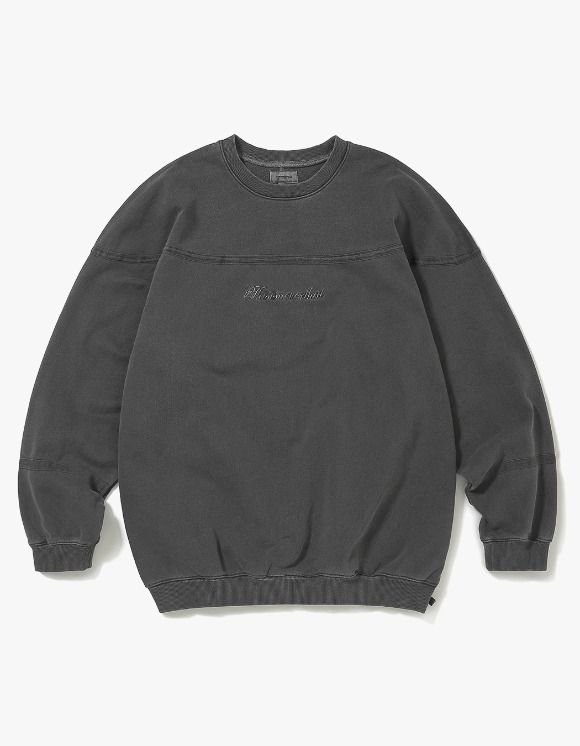 thisisneverthat Pigment Script Crewneck - Charcoal | HEIGHTS. | 하이츠 온라인 스토어