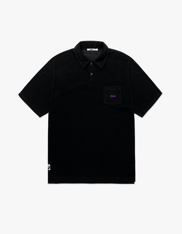 Fuzz FUZZ TERRY POLO SHIRT black | HEIGHTS. | 하이츠 온라인 스토어