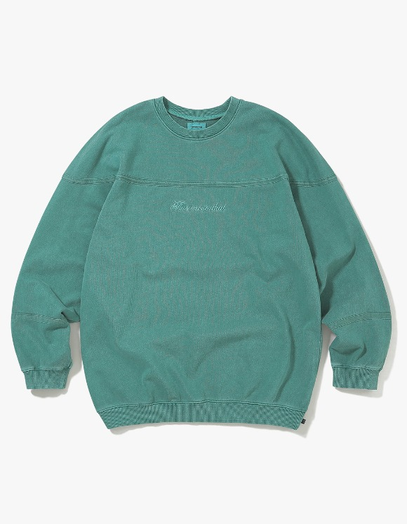 thisisneverthat Pigment Script Crewneck - Sage Green | HEIGHTS. | 하이츠 온라인 스토어