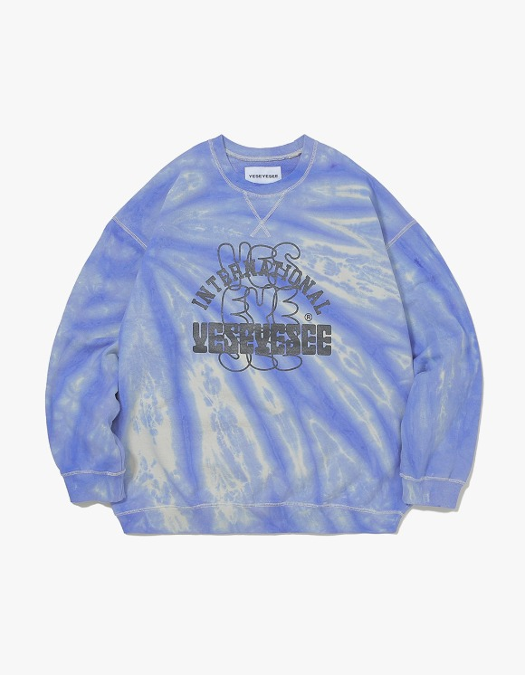 yeseyesee Dyed Sweatshirts - Blue/Ivory | HEIGHTS. | 하이츠 온라인 스토어