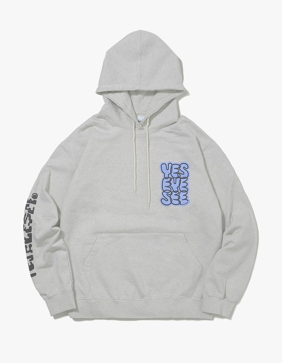 yeseyesee B-Logo Hoodie - Light Gray | HEIGHTS. | 하이츠 온라인 스토어