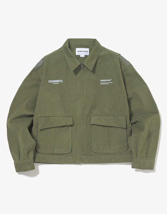 yeseyesee Vented Trucker Jacket - Olive | HEIGHTS. | 하이츠 온라인 스토어