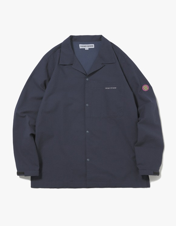 yeseyesee Seersucker Shirts - Navy | HEIGHTS. | 하이츠 온라인 스토어