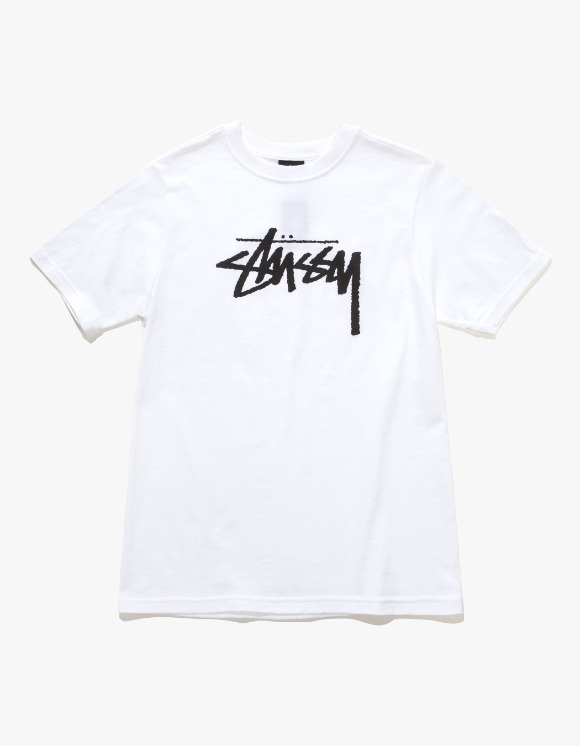 Stussy Wmns Stock Tee - White | HEIGHTS. | 하이츠 온라인 스토어