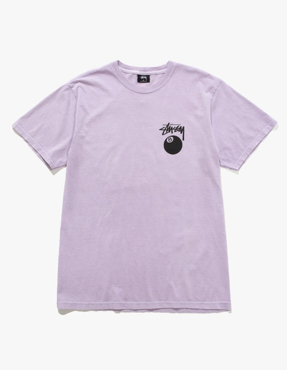 Stussy 8 Ball Pig. Dyed Tee- Lavender | HEIGHTS. | 하이츠 온라인 스토어